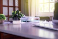 File Stack,file folder pace on desk Royalty Free Stock Photo
