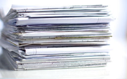 File Stack, file folder with white background.  Stock Image