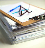 File Stack, file folder with white background Royalty Free Stock Photography