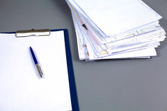 File Stack, file folder with white background Stock Image