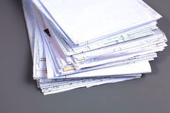 File Stack, file folder with white background Stock Images