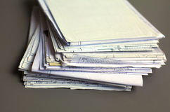 File Stack, file folder with white background Royalty Free Stock Photos