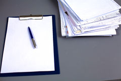 File Stack, file folder with white background Stock Photography