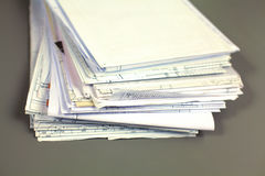File Stack, file folder with white background Stock Photo