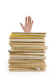 File Stack and hand Stock Photo