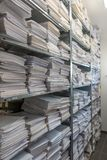 file stacks are stored in one archive royalty free stock photo