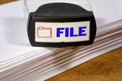 File Stamp royalty free stock photography