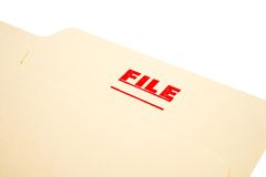 File stamp on paper Royalty Free Stock Photo