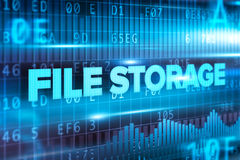 File storage abstract concept blue text blue background. File storage abstract concept blue text on blue background Royalty Free Stock Image
