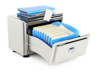 File storage cabinet with folders Royalty Free Stock Images