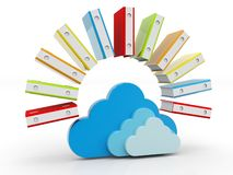 Cloud Computing, Cloud Storage Concept. 3D render isolated on white background. File storage in cloud. Cloud Computing, Cloud Storage Concept. 3D render isolated stock photography