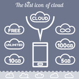 File storage in cloud space Royalty Free Stock Photography