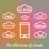 File storage in cloud space Royalty Free Stock Image