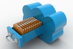 File storage in clouds  Stock Photos