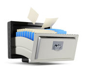 File storage. Concept on white background. 3d rendering image Stock Photos