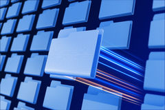 File system. Concept. Chosen folder Royalty Free Stock Photo