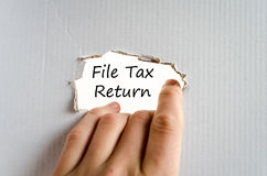 File tax return text concept Royalty Free Stock Photo