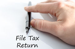 File tax return text concept Royalty Free Stock Images