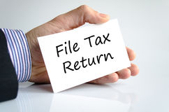 File tax return text concept Stock Image