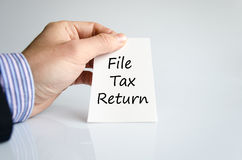 File tax return text concept Stock Photography