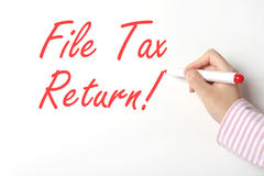 File tax return Stock Image