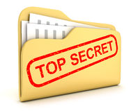 File top secret. File and stamp top secret (done in 3d Royalty Free Stock Photo