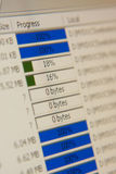 File transfer closeup. FTP clients file transfer closeup photo royalty free stock image