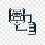 File transfer concept vector linear icon isolated on transparent vector illustration
