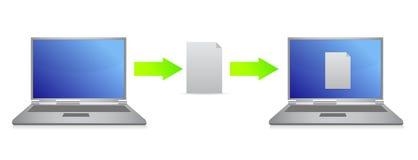File transfer illustration design Stock Photo