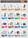 File type 3d icons set. Vector illustration Royalty Free Stock Image