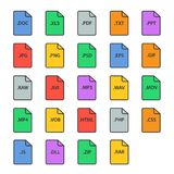 File type icon set Royalty Free Stock Image