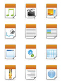 File type icons Stock Images