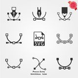 SVG file icons. File type icons. Professional vector icons for your website, application and presentation Stock Images