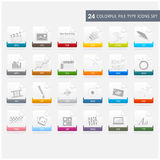 File type icons set Royalty Free Stock Photo