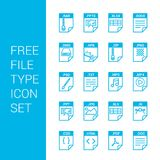 File type icons set vector. For web design and application interface, also useful for infographics. Vector illustration Royalty Free Stock Photos