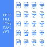 File type icons set vector. For web design and application interface, also useful for infographics. Vector illustration Royalty Free Stock Photo
