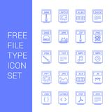 File type icons set vector. For web design and application interface, also useful for infographics. Vector illustration Stock Photos