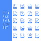 File type icons set vector. For web design and application interface, also useful for infographics. Vector illustration Stock Image