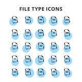 File type icons set. For web design and application interface, also useful for infographics. Vector illustration Royalty Free Stock Photo