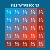 File Type Icons. For web design and application interface, also useful for infographics. Vector illustration stock illustration