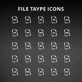 File Type Icons. For web design and application interface, also useful for infographics. Vector illustration vector illustration