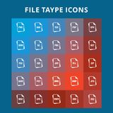 File Type Icons. For web design and application interface, also useful for infographics. Vector illustration Stock Photography