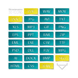 File type. Set of file type icons. file extensions sign Stock Images