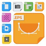 File types vector icons and formats labels file system icons presentation document symbol application software folder. Illustration. Archive, illustration Royalty Free Stock Image