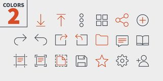 File UI Pixel Perfect Well-crafted Vector Thin Line Icons 48x48 Ready for 24x24 Grid for Web Graphics and Apps with. Editable Stroke. Simple Minimal Pictogram Stock Photos