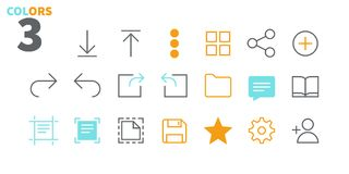 File UI Pixel Perfect Well-crafted Vector Thin Line Icons 48x48 Ready for 24x24 Grid for Web Graphics and Apps with. Editable Stroke. Simple Minimal Pictogram Stock Image
