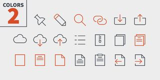File UI Pixel Perfect Well-crafted Vector Thin Line Icons 48x48 Ready for 24x24 Grid for Web Graphics and Apps with. Editable Stroke. Simple Minimal Pictogram Stock Photography