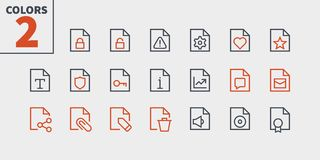 File UI Pixel Perfect Well-crafted Vector Thin Line Icons 48x48 Ready for 24x24 Grid for Web Graphics and Apps with. Editable Stroke. Simple Minimal Pictogram Royalty Free Stock Photos