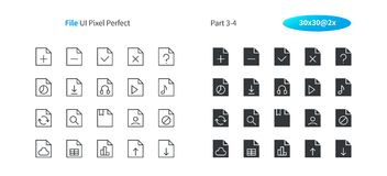 File UI Pixel Perfect Well-crafted Vector Thin Line And Solid Icons 30 2x Grid for Web Graphics and Apps. Simple Minimal Pictogram Part 3-4 Stock Photography