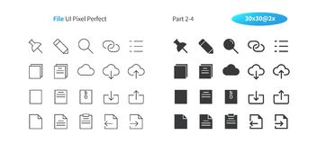 File UI Pixel Perfect Well-crafted Vector Thin Line And Solid Icons 30 2x Grid for Web Graphics and Apps. Simple Minimal Pictogram Part 2-4 Royalty Free Stock Photography